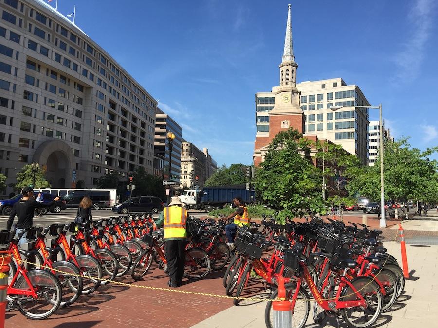 A full bikeshare corral
