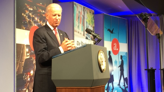 Vice-President Biden at the event 'Fix My Commute'