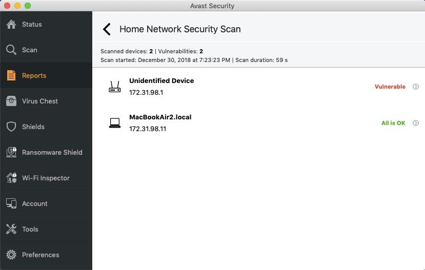 Home Network Security Scan